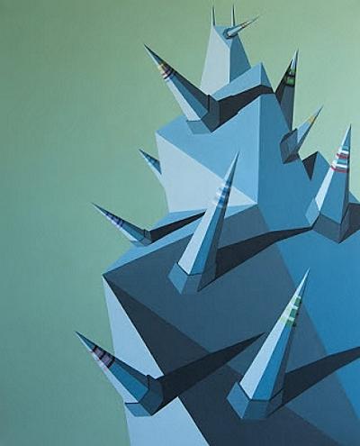 Roberto Chessa, Intergalactic mind, 2020 – acrilico su tela, 80 x 100 cm